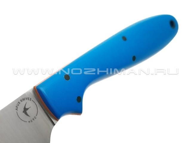 Apus Knives нож Wilson Long сталь N690, рукоять G10 blue