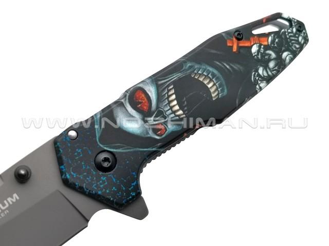 Нож Magnum Screaming Skull 01MB230 сталь 440A, рукоять Stainless steel