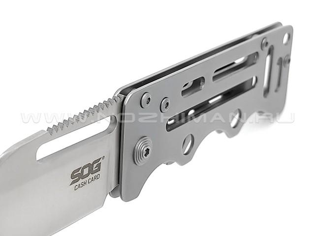 Нож SOG Cash Card EZ1 сталь 8Cr13MoV рукоять Stainless steel