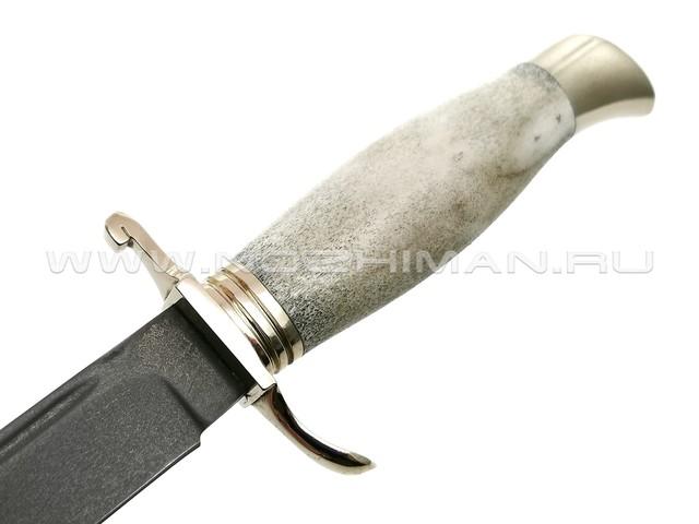 """Нож """"Финка НКВД"""" булатная сталь, рукоять рог лося, мельхиор (Тов. Завьялова)"""