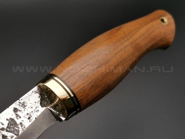 """Нож """"Берси-М"""" сталь 9ХС, рукоять термоясень, латунь (Тов. Завьялова)"""