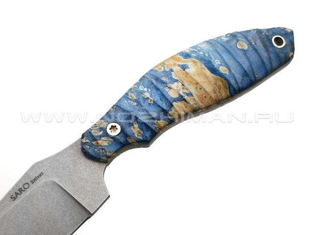 Нож SARO Белка сталь K110, рукоять кап клёна 2