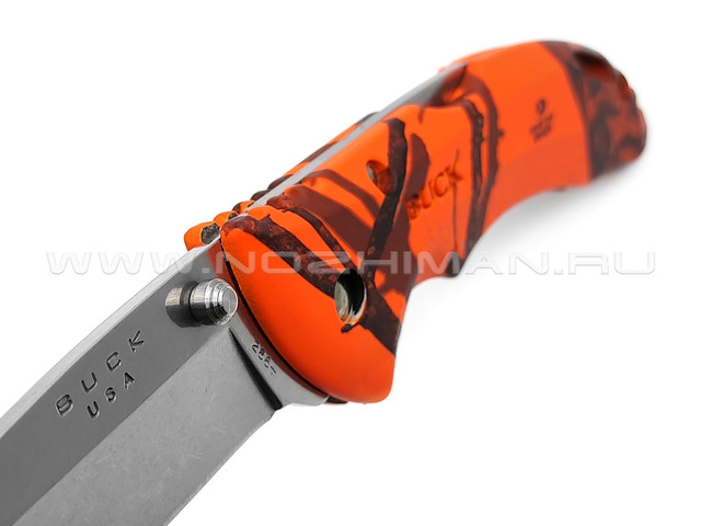 Нож Buck 286 Bantam BHW 0286CMS9 сталь 420HC рукоять GRN Mossy Oak Blaze Camo