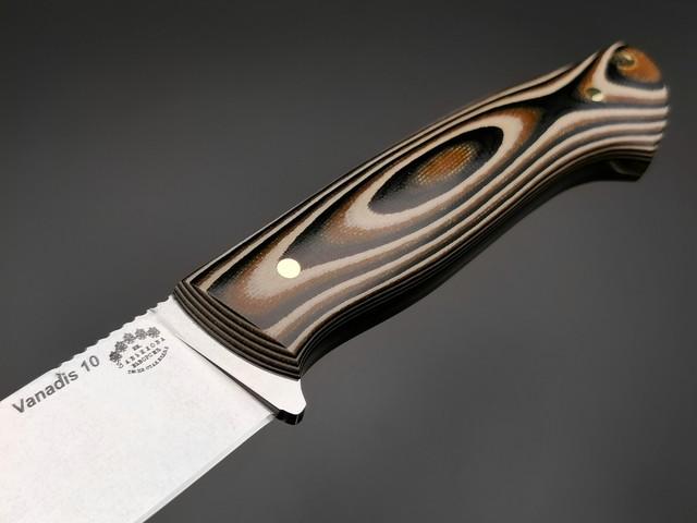 """Нож """"Граф Шереметьев"""" сталь Vanadis 10, рукоять G10 black-brown-olive (Тов. Завьялова)"""