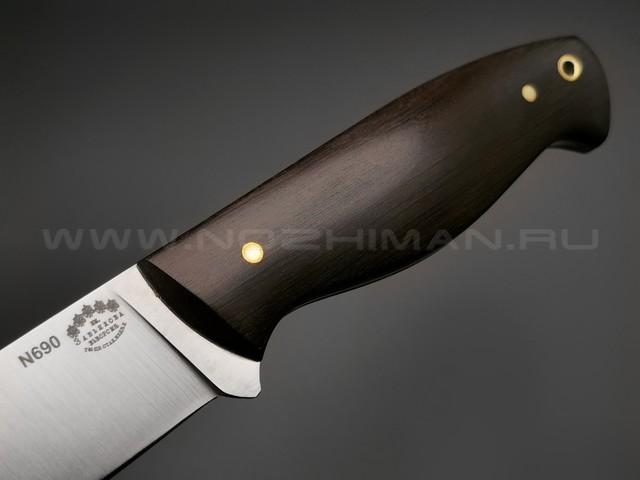 "Нож ""Волжский"" сталь N690, рукоять граб (Тов. Завьялова)"