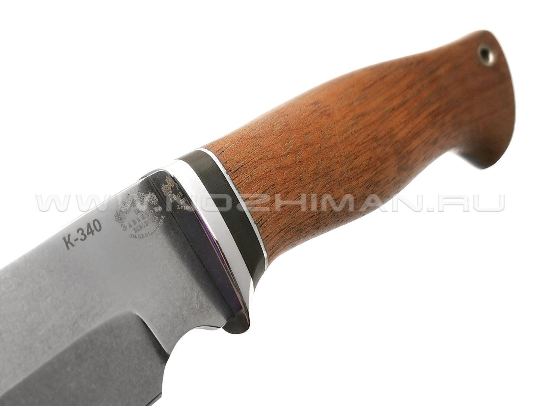 """Нож """"Капитан"""" сталь K340, рукоять бубинга (Тов. Завьялова)"""