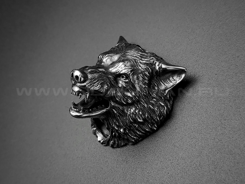 """Бусина """"Волк"""" нейзильбер (Wild Heart)"""