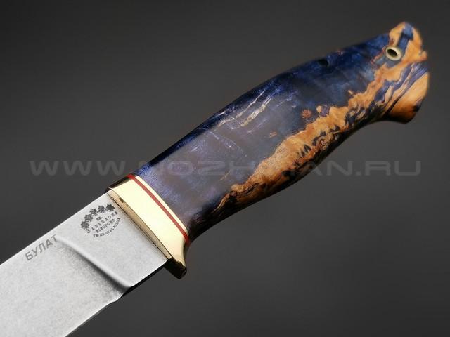 """Нож """"Ладья"""" булатная сталь, рукоять карельская береза (Тов. Завьялова)"""
