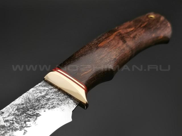 """Нож """"Бригадир"""" сталь 9ХС, рукоять карельская береза (Наследие)"""