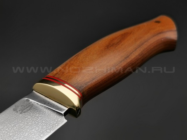 """Нож """"Ладья"""" сталь ХВ5, рукоять дерево орех, латунь (Тов. Завьялова)"""