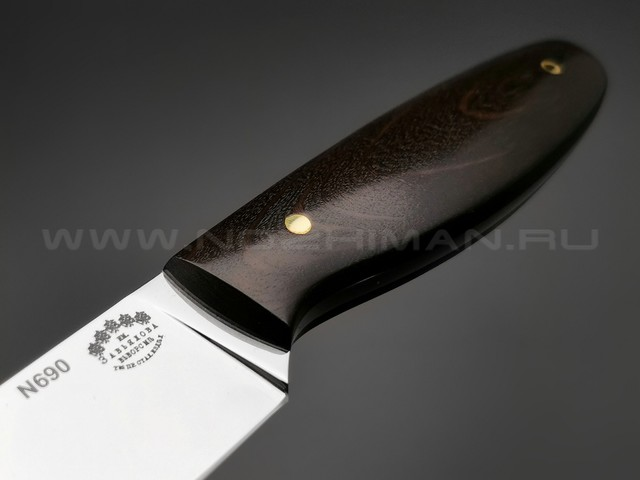 "Нож ""Сити"" сталь N690, рукоять граб (Тов. Завьялова)"