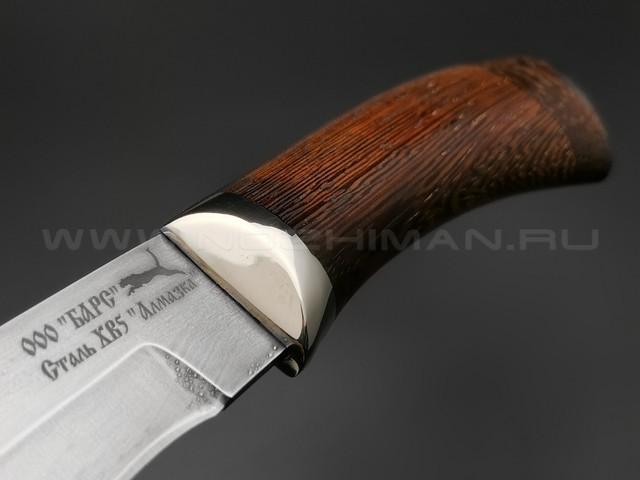 """Нож """"Фин"""" сталь Алмазка ХВ5, рукоять дерево венге, мельхиор (ООО Барс)"""
