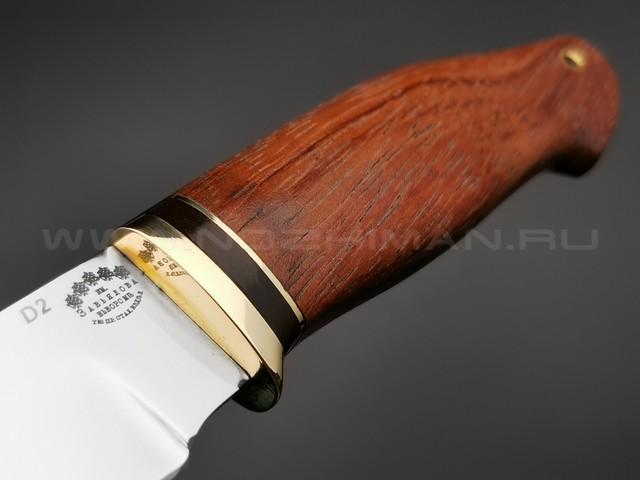 """Нож """"Граф"""" сталь D2, рукоять дерево бубинга (Тов. Завьялова)"""