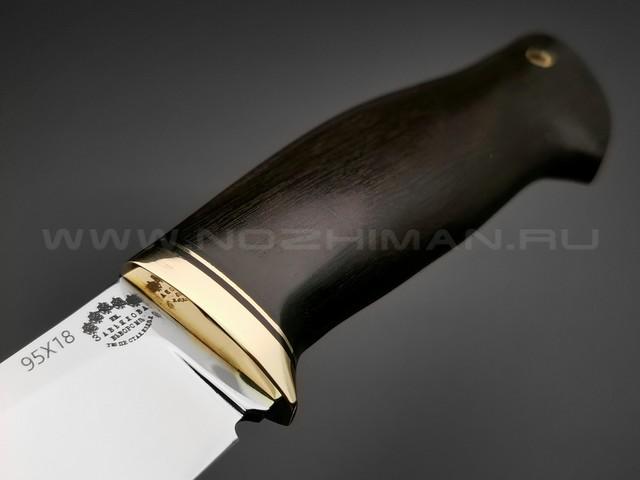 """Нож """"Фидель"""" сталь 95Х18, рукоять черный граб (Тов. Завьялова)"""