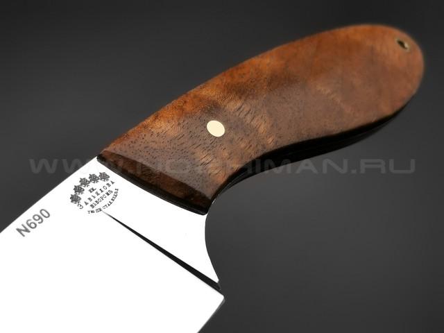 """Нож """"Боровик"""" сталь N690, рукоять корень ореха (Тов. Завьялова)"""