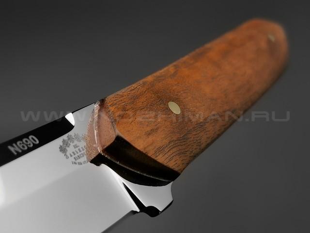 """Нож """"Танто"""" сталь N690, рукоять дерево орех (Тов. Завьялова)"""