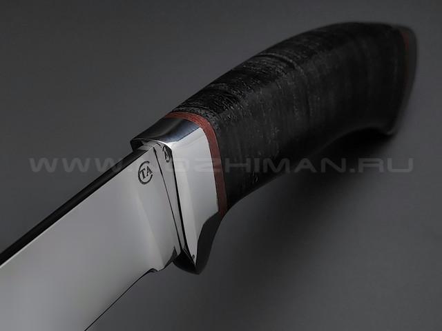 "Нож ""Варан-3"" сталь 95Х18, рукоять наборная кожа (Титов & Солдатова)"
