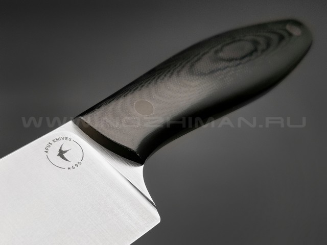 Apus Knives нож Santoku сталь N690, рукоять G10 black