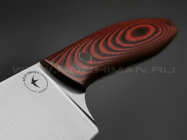 Apus Knives нож Shef-M сталь N690, рукоять G10 Red & Black