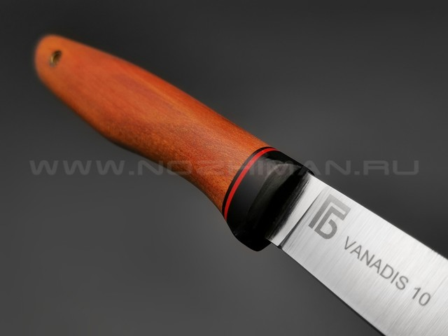 Богдан Гоготов нож NBG-2 сталь Vanadis 10, рукоять дерево Redheart