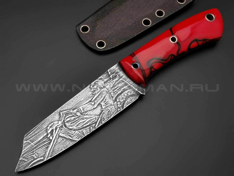 Богдан Гоготов нож NBG-4 (Призрачный гонщик) сталь N690, рукоять трехмерный композит, титан