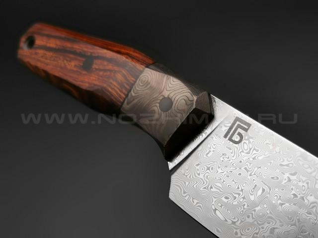 Богдан Гоготов нож NBG-11 сталь ZDI EVA, рукоять дерево айронвуд, карбон