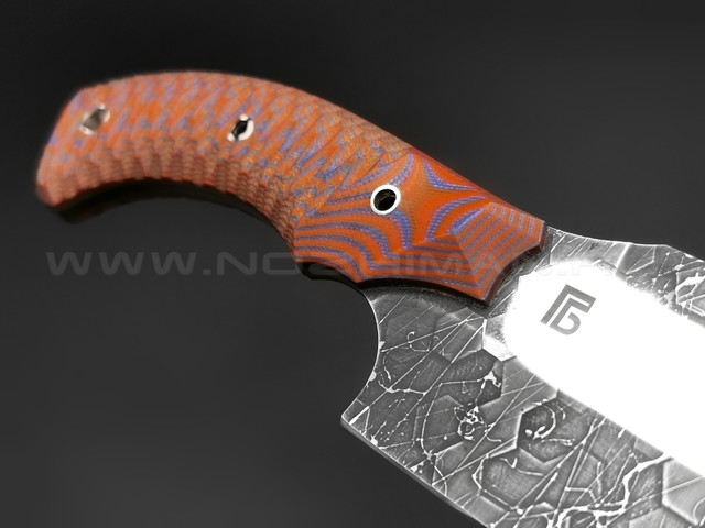 Богдан Гоготов нож NBG-12 сталь D2, рукоять G10 orange & blue