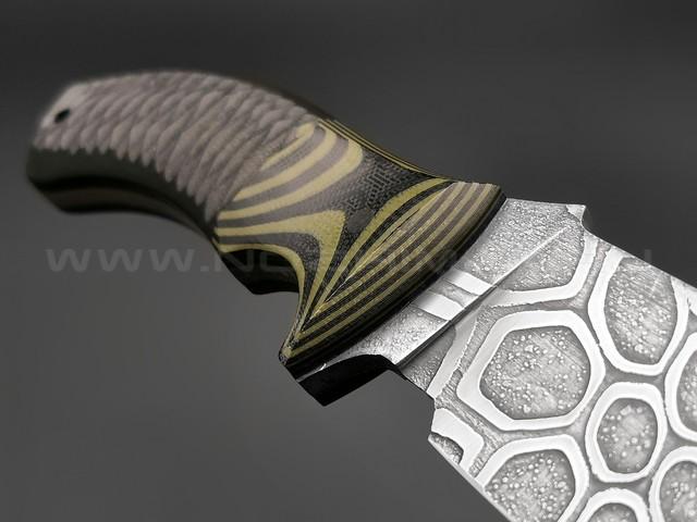 Волчий Век нож Команданте L сталь PGK WA, рукоять G10 black & green