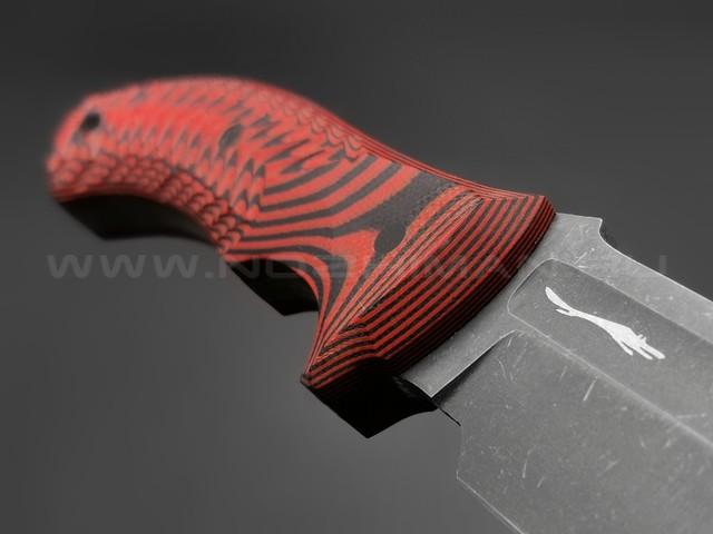 Волчий Век нож Команданте Light Edition сталь PGK WA, рукоять G10 black & red