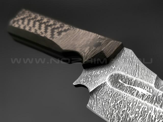 Волчий Век нож Карачун сталь Niolox WA, рукоять Carbon fiber