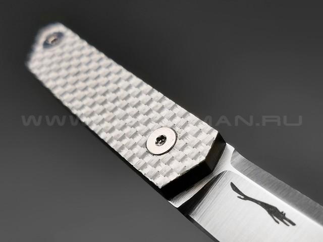 Волчий Век нож Мини Танто сталь M390 WA, рукоять Silver Twill