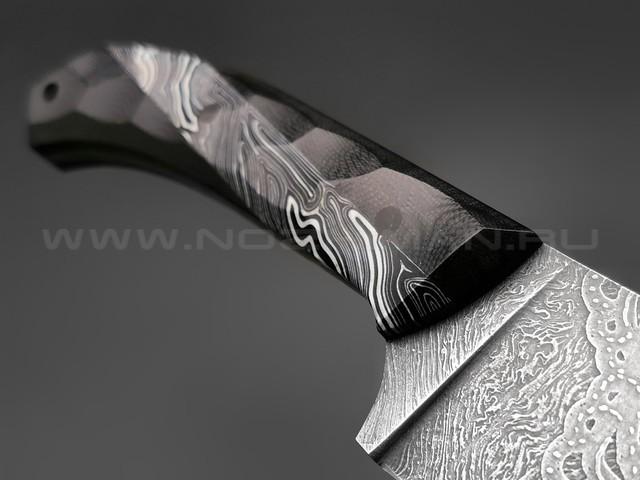 Волчий Век нож Пчак сталь Niolox WA, рукоять G10 black & white