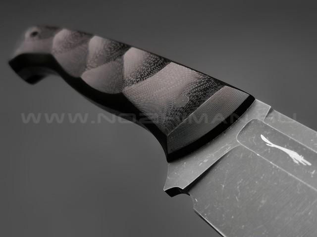 Волчий Век нож Ямской XL сталь PGK WA, рукоять G10 black