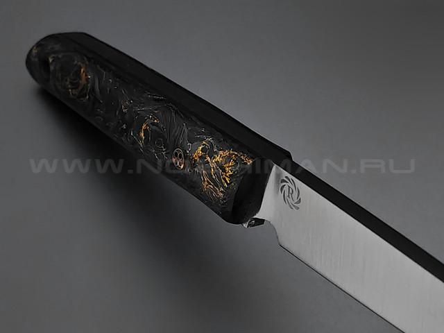 Neyris Knives нож Acus сталь CPM 3V, рукоять Carbon fiber dark matter gold