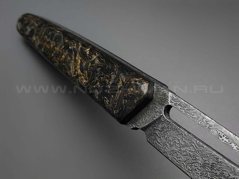 Neyris Knives нож Sintet сталь CPM S125V, рукоять Carbon fiber dark matter gold
