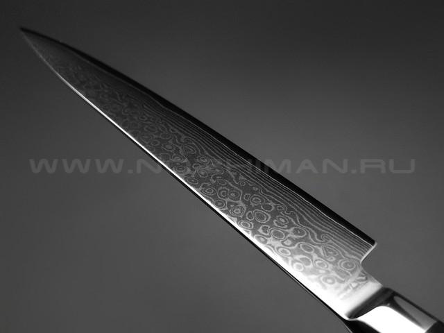 Нож универсальный TG-D3 дамасская сталь VG10, рукоять G10 black