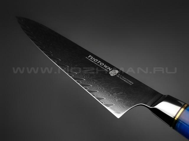 Нож TUOTOWN Шеф TWB-D7 сталь ламинат VG10, рукоять гибрид