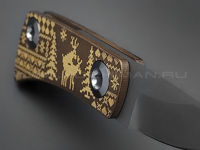 Нож Brutalica LOSI-E-BOSSY сталь Aus-8, рукоять латунь