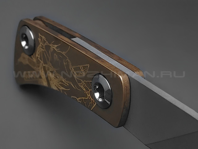 Нож Brutalica Namakubi сталь Aus-8, рукоять латунь