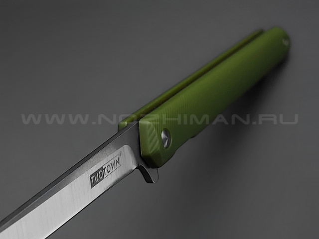 TuoTown нож BDT-G tanto сталь D2, рукоять Grivory OD green