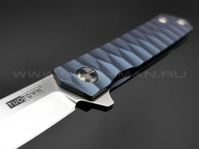 TuoTown нож DBSC-BL blue сталь D2, рукоять Титан