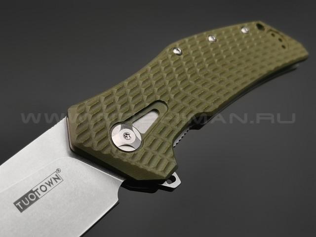 TuoTown нож JJ066-G сталь D2, рукоять G10 OD green