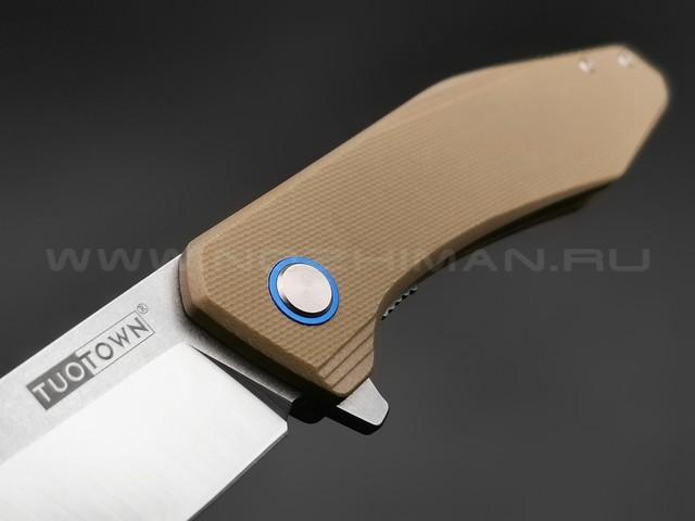 TuoTown нож JJ050-S сталь D2, рукоять G10 tan