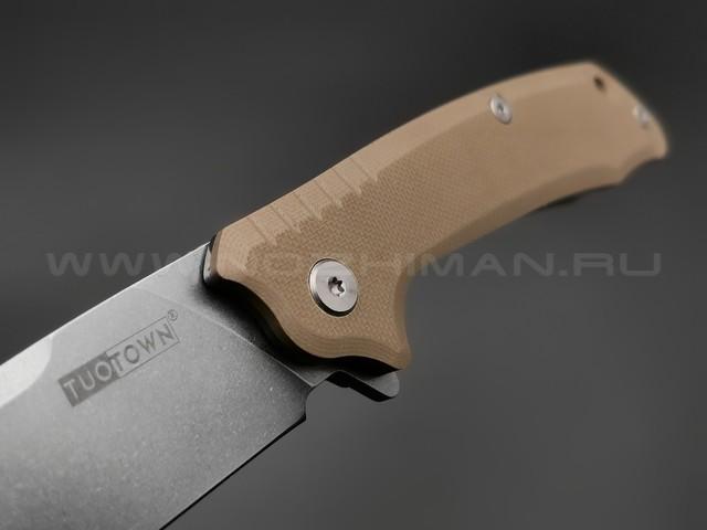 TuoTown нож JJ001-S сталь D2 , рукоять G10 tan