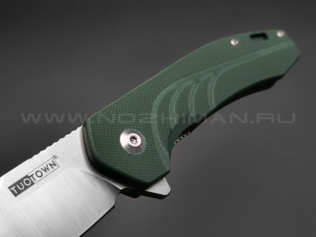 TuoTown нож JJ048-CG сталь D2, рукоять G10 hunter green