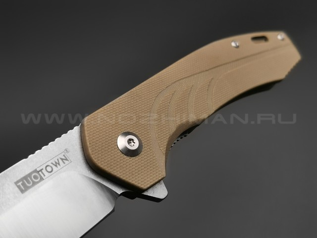 TuoTown нож JJ048-S сталь D2, рукоять G10 tan