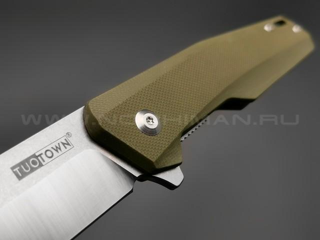 TuoTown нож JJ045-G сталь D2, рукоять G10 OD green