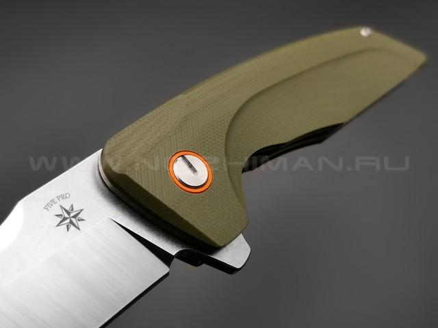 TuoTown нож JJ035-G сталь D2, рукоять G10 OD green