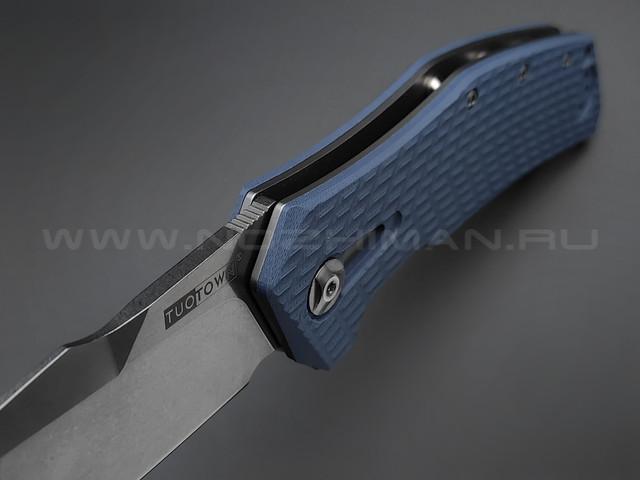 TuoTown нож JJ066-GB сталь D2, рукоять G10 Jeans blue