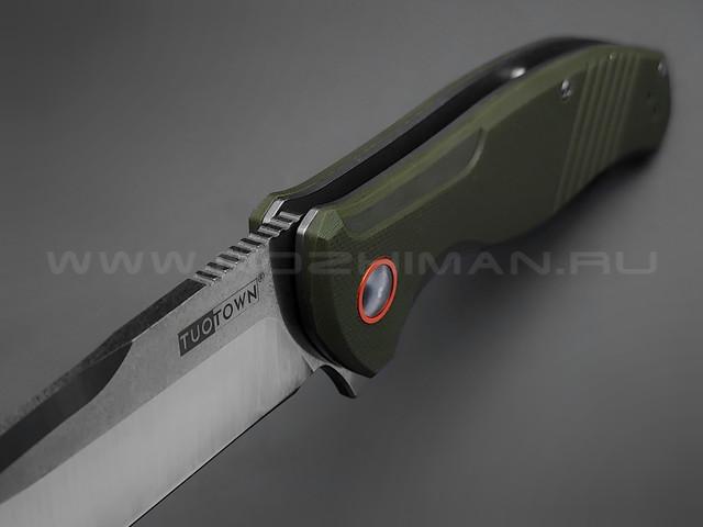 TuoTown нож JJ047-G сталь D2, рукоять G10 OD green